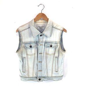 American Rag Denim Button Up Vest sz M